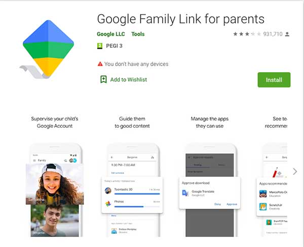 google family link android